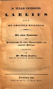 M Tullii Ciceronis Laelius sive De Amicitia Dialogus PDF