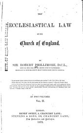 The Ecclesiastical Law of the Church of England: Volume 2