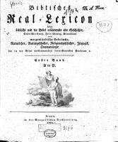 Biblisches Real Lexikon PDF