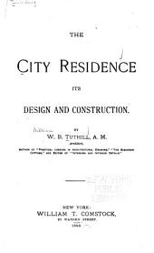 The City Residence: Its Design and Construction