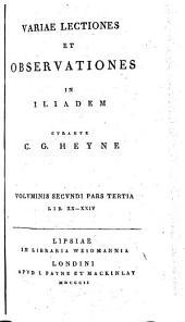 Variae lectiones et observationes in Iliadem