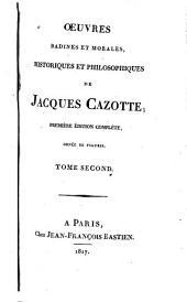 Oeuvres badines et morales, historiques et philosophiques de Jacques Cazotte: Volume2