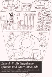 Zeitschrift für ägyptische sprache und altertumskunde: Bände 36-37