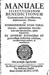 Manuale selectissimarum Benedictionum coniurationum