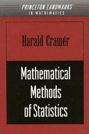 Mathematical Methods of Statistics PDF