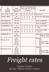 Freight Rates: Official Classification Territory and Eastern Canada