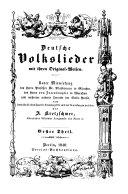 Deutsche Volkslieder mit ihren Original Weisen