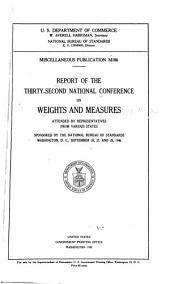 Report of the ... National Conference on Weights and Measures