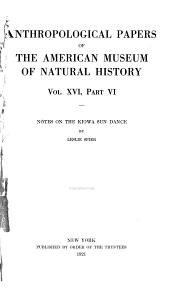 Notes on the Kiowa Sun Dance: Volume 16, Issue 6