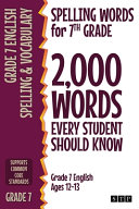 Spelling Words for 7th Grade