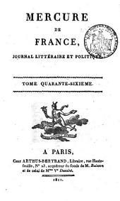 Mercure de France: Volume46