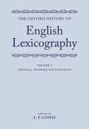 The Oxford History of English Lexicography  General purpose dictionaries PDF