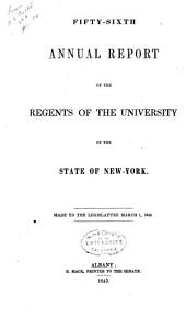 Annual Report of the Regents: Volume 56