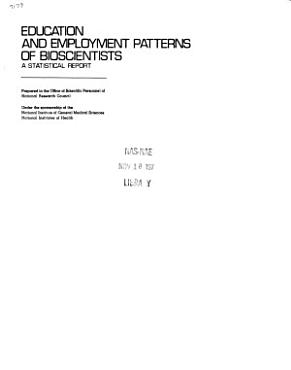 Education and Employment Patterns of Bioscientists PDF