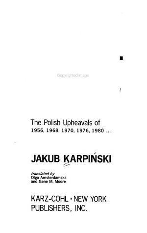 Countdown  the Polish Upheavals of 1956  1968  1970  1976  1980