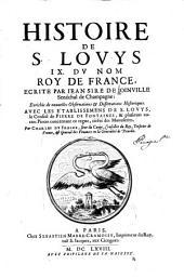 Histoire de S. Lovys IX. dv nom roy de France