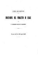 Discussione del progetto di legge per la liquidazione dell asse ecclesiastico  Tornate dal 5 al 28 luglio 1867 PDF