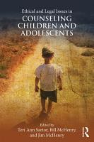 Ethical and Legal Issues in Counseling Children and Adolescents PDF