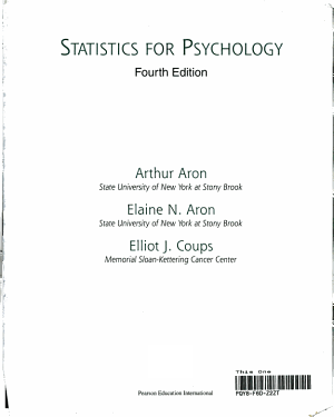Statistics for Psychology PDF