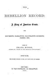 The Rebellion Record: A Diary of American Events, with Documents, Narratives, Illustrative Incidents, Poetry, Etc, Volume 10