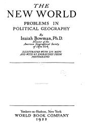 The New World: Problems in Political Geography