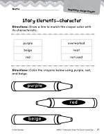 The Day the Crayons Quit Studying the Story Elements