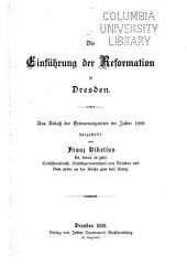 Die einführung der reformation in Dresden: aus anlass der erinnerungsfeier im jahre 1889