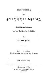 Anleitung zum Uebersetzen aus dem Deutschen ins Griechische PDF