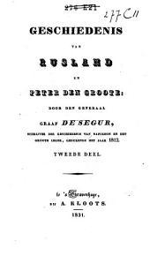Geschiedenis van Rusland en Peter den Groote: Volume 2