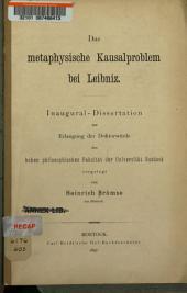 Das metaphysische Kausalproblem bei Leibniz