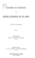 The Works of Aurelius Augustine  Lectures or tractates on the Gospel according to St  John  v  2 PDF