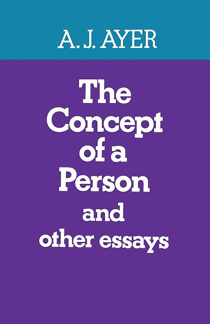 The Concept of a Person