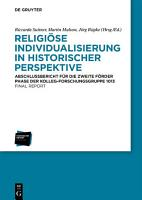 Religi  se Individualisierung in historischer Perspektive   Religious Individualisation in Historical Perspective PDF