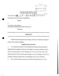 David William Thomas And Global Marketing Consultants Llc Securities And Exchange Commission Litigation Complaint Book PDF