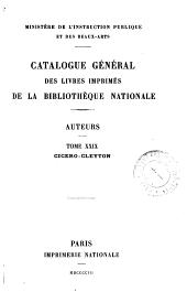 Catalogue général des livres imprimés de la Bibliothèque nationale: Auteurs, Volume29