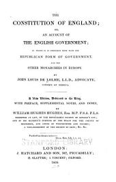 The Constitution of England: Or, An Account of the English Government ...