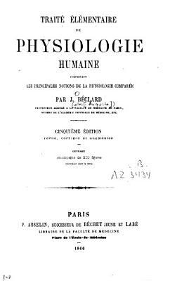 Trait     lementaire de physiologie humaine PDF