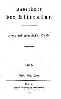 Jahrb  cher der Literatur PDF