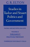 Studies in Tudor and Stuart Politics and Government  Volume 2  Parliament Political Thought PDF