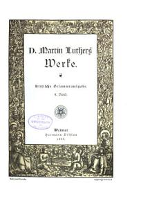 D  Martin Luthers Werke PDF