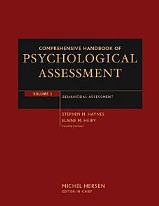 Comprehensive Handbook of Psychological Assessment  Volume 3 Book