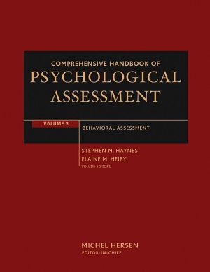 Comprehensive Handbook of Psychological Assessment  Volume 3