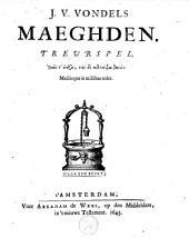 J.V. Vondels Maeghden: treurspel