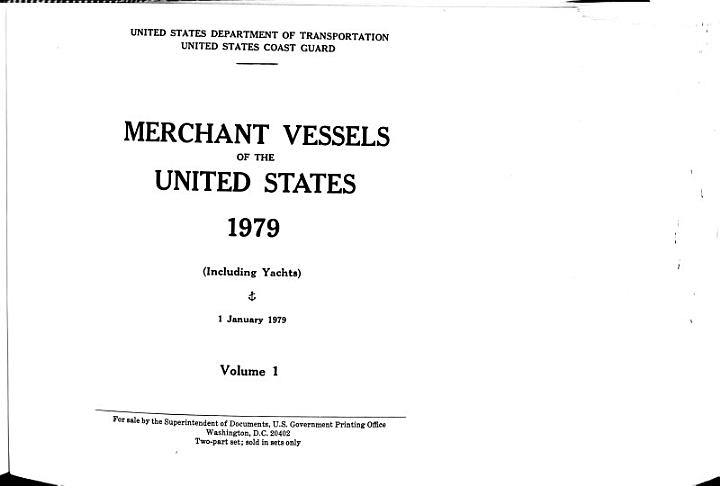 Merchant Vessels of the United States
