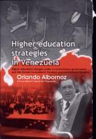 Higher Education Strategies in Venezuela PDF