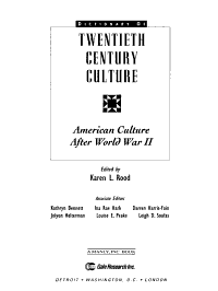 American Culture After World War II PDF
