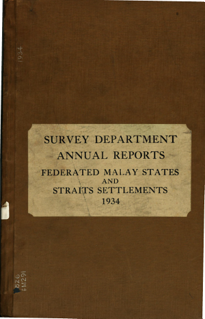 Report of the Survey Departments of Malaya