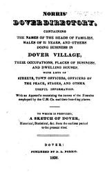 Norris S Dover Directory To Which Is Prefixed A Sketch Of Dover Historical Etc Book PDF