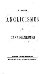 Anglicismes et canadianismes