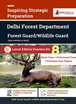 Delhi Forest Department 2021 Exam for Forest Guard Stage 1   8 Full-length Mock Tests (Solved) + 15 sectional Tests + 3 Previous Year Papers   Latest Edition as per 2021 Syllabus